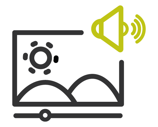 Icono de características sensoriales y uso del color