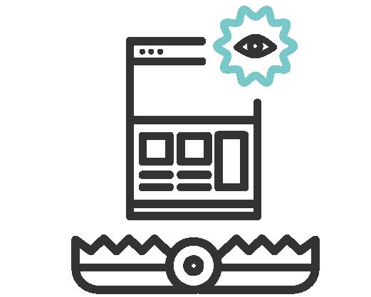 Icono de trampas para el foco
