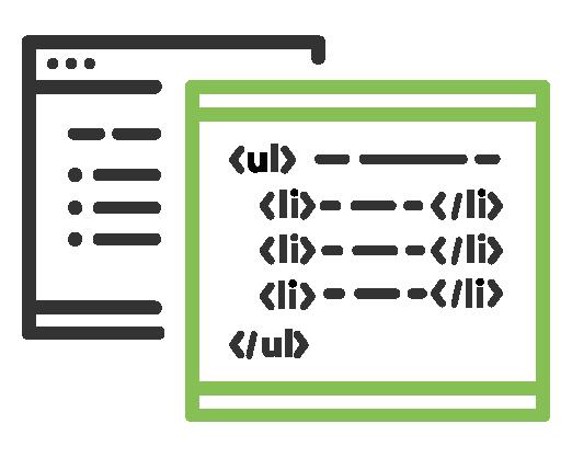 Icono de información, estructura y relaciones